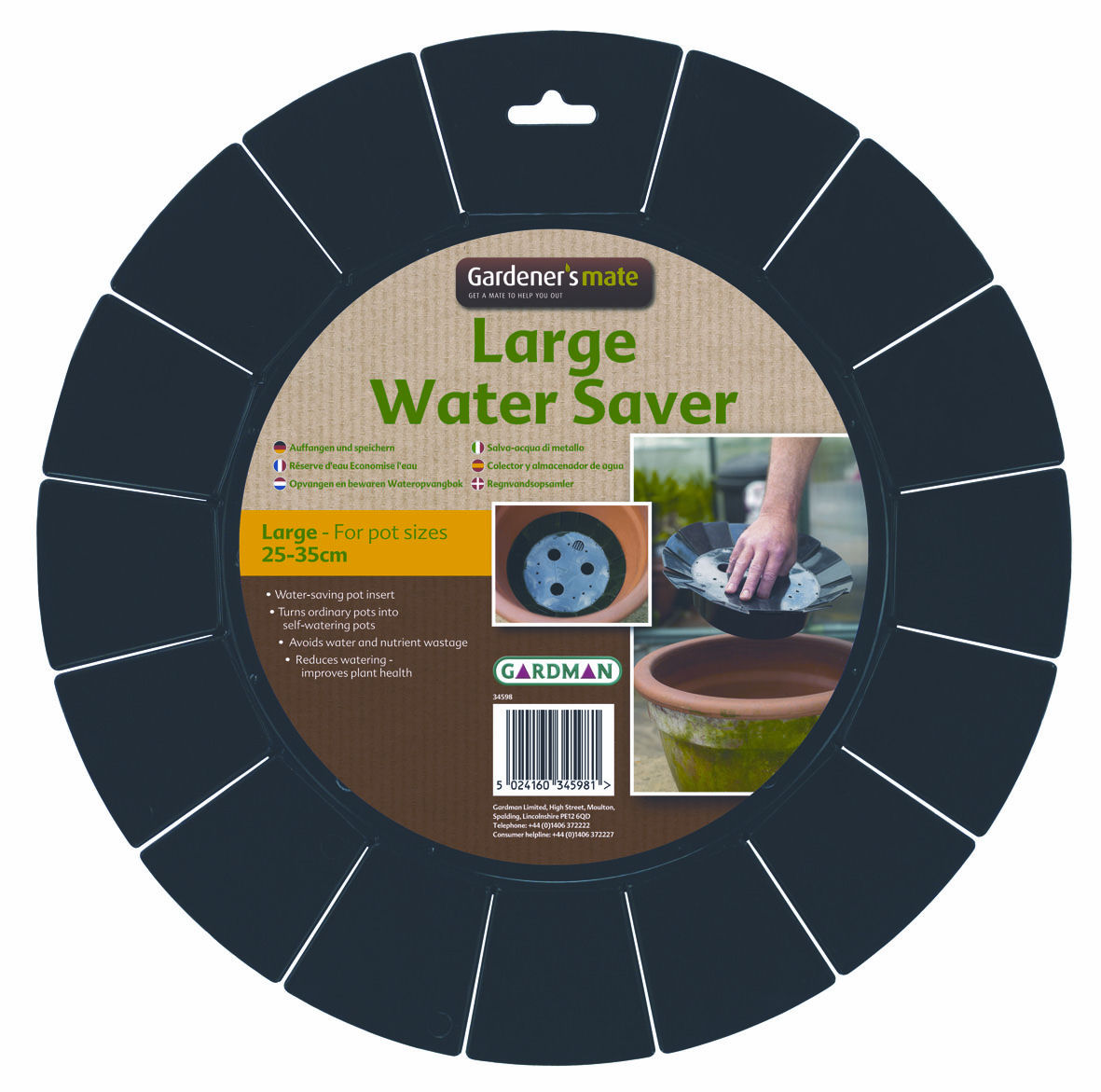 Gardman Large Water Saver for Large Garden Pots