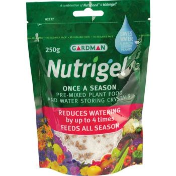 Gardman 250g Nutrigel - Water Retaining Crystals & Plant Food