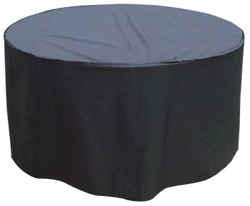 Garland Quality Polyester 4 - 6 Seat Seater Round Black Table Cover