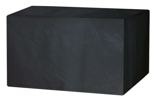 Garland Polyester 4 Seat Seater Rectangular Black Table Cover