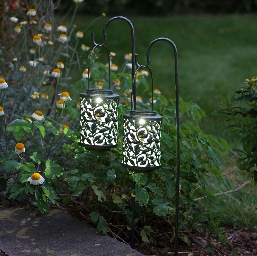 Smart Solar Verdi-Gris Effect Lantern Light 2pk