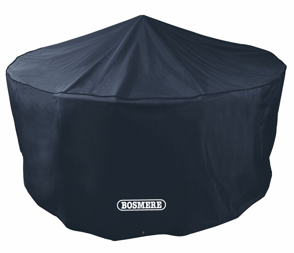 Bosmere Circular Round Black 4 Seat Patio Set Cover D515