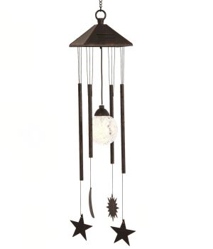 Smart Solar Sun Moon & Star Wind Chime Solar Light