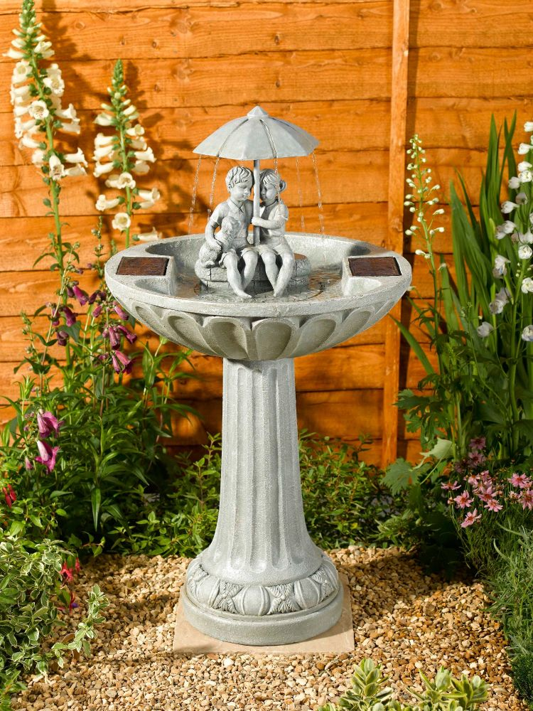 Smart Solar Umbrella Solar Garden Fountain Feature