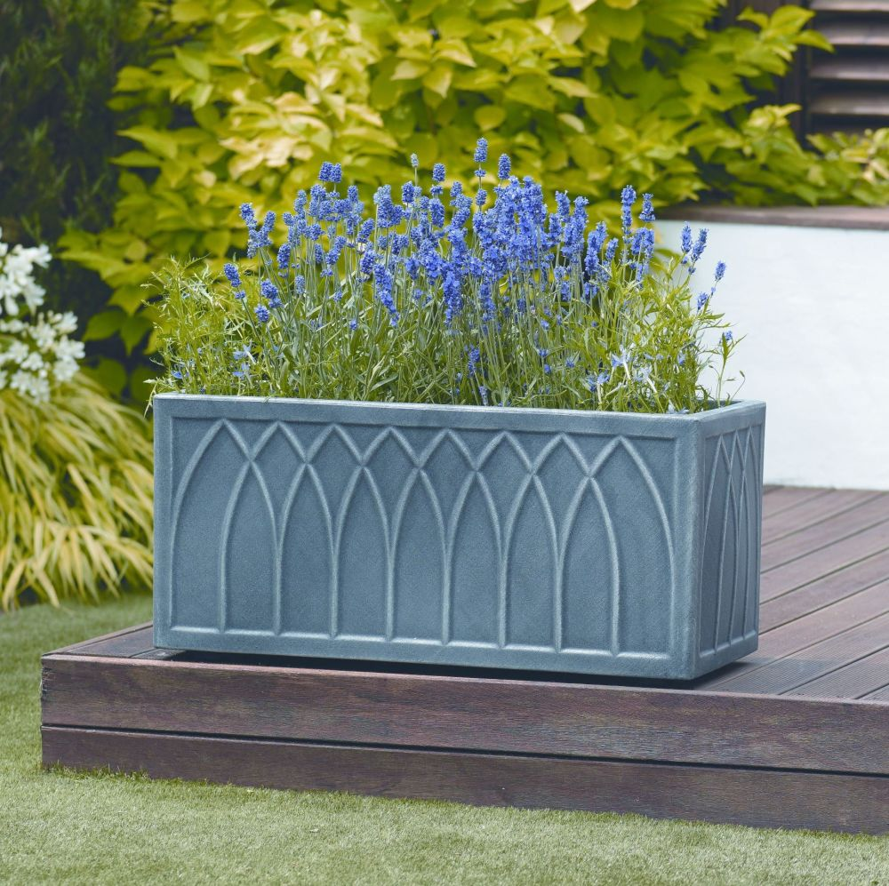 Stewart Versailles Quality Trough Planter Pewter Effect - 70cm