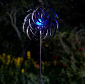 Smart Solar Spiro Wind Spinner Garden Solar Light Mobile