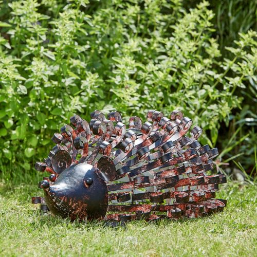 Smart Solar Silhouette Hedgehog Metal Animal Solar Light Ornament