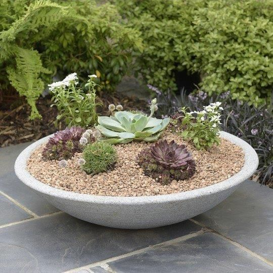 Stewart Varese Decorative Plastic Planter - Alpine Grey