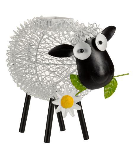 Smart Solar Dolly Sheep Metal Animal Patio Solar Light Lighting