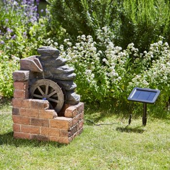 Smart Solar Heywood Mill Solar Water Fountain Feature