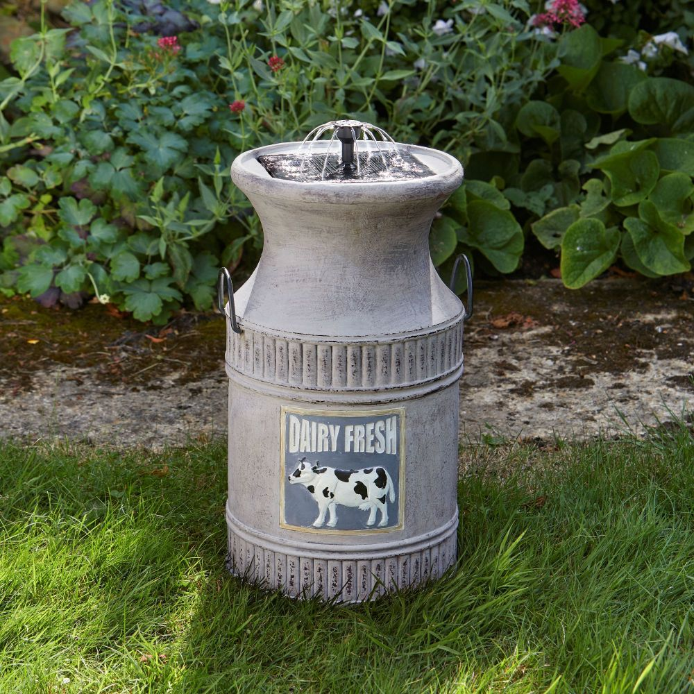 Smart Solar Milk Churn Solar Water Fountain Feature