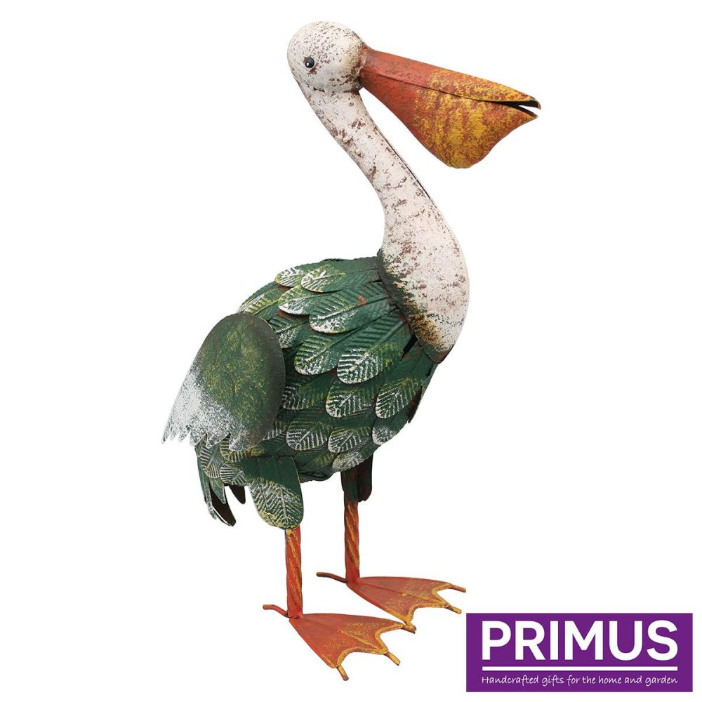 Primus Rural Pelican Metal Bird Garden Animal Ornament