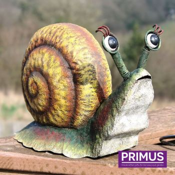Primus Rural Snail Metal Garden Animal Ornament