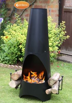 Gardeco Oslo Chimenea Contemporary Black Steel