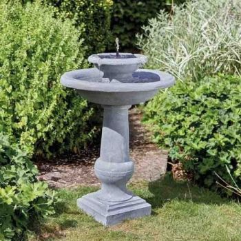 Smart Solar Chatsworth Bird Bath Fountain Garden Water Feature
