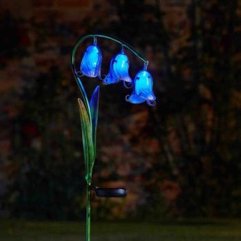 Smart Solar Bluebell Garden Flower Stake Lights - 2 pack
