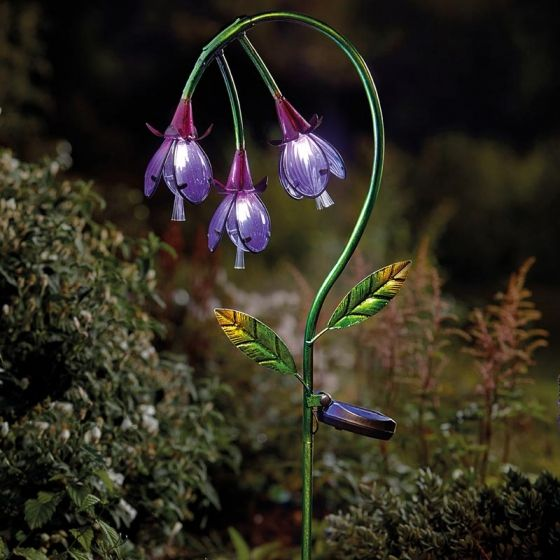 Smart Solar Fuchia Garden Flower Stake Light