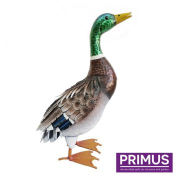 Primus Deluxe Metal Duck Mallard Bird Garden Animal Ornament