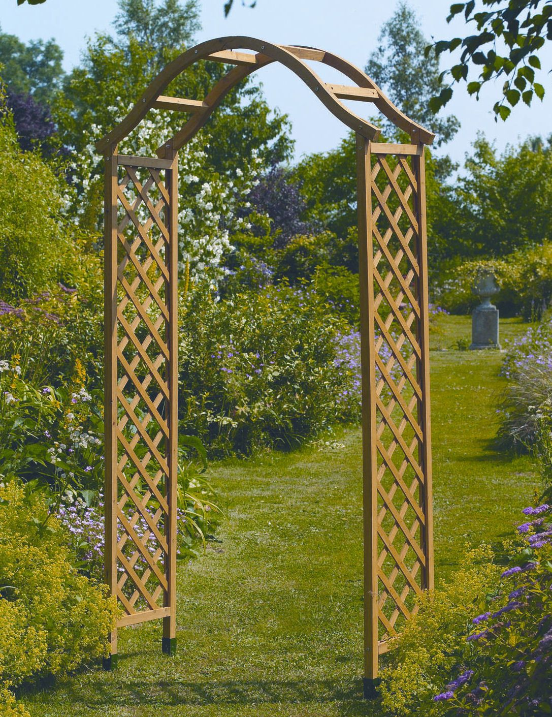 Gardman Wooden Garden Arch - Tan / Natural Wood