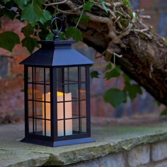 Smart Garden Window Lantern Candle LED Light - Battery Operated
