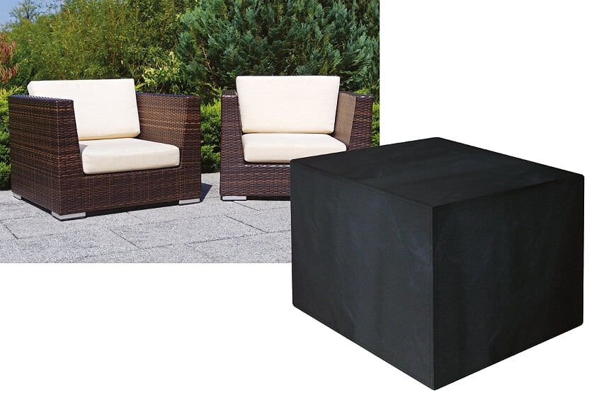 Garland Modular Rattan Large Armchair Cover Black W1650