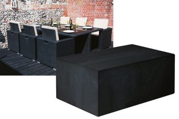 Garland Modular Rattan 6 Seater Rectangular Cube Set Cover Black W1642