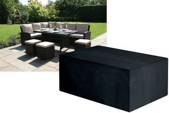 Garland Modular Rattan Large Dining Set Cover Black W1645