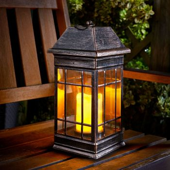 Smart Solar Seville Solar Powered Candle Lantern
