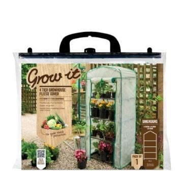 Gardman Fleece Frost Protection Cover 4 Tier Growhouse Mini Greenhouse