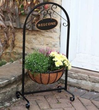 "Smart Garden 14"" Saxon Metal Welcome Planter with Liner"