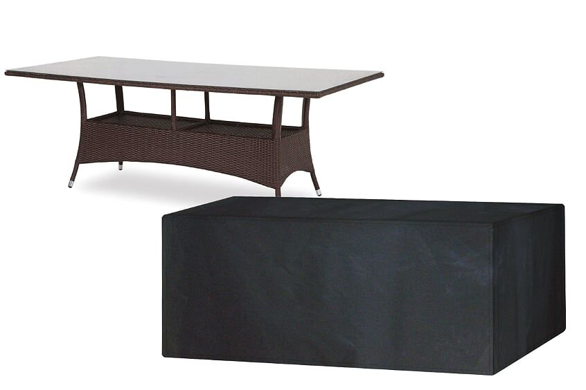 Garland 8 Seater Rectangular Black Polyester Table Cover W1380