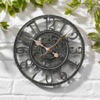 Smart Garden Newby Mechanical Garden Wall Clock - Verdigris 12''