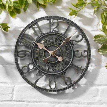 Smart Garden Newby Mechanical Garden Wall Clock - Verdigris 12''