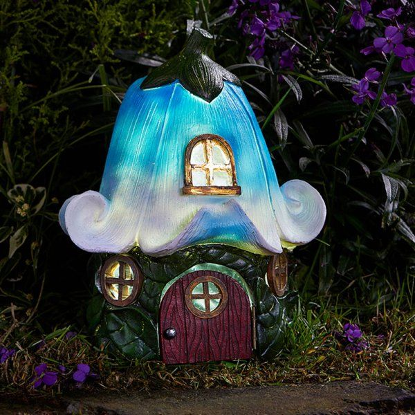 Smart Solar Bluebell Cottage Garden Solar Lighting Ornament