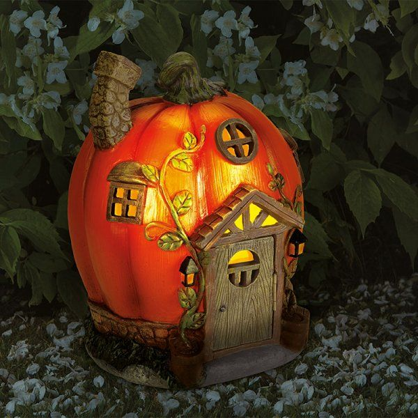 Smart Solar Humpkin House Garden Solar Lighting Ornament