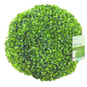 Gardman Hanging Topiary Ball Boxus Leaf Effect 30cm