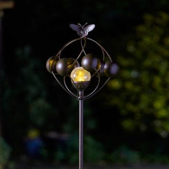 Smart Solar Aura Wind Spinner Garden Solar Light Mobile