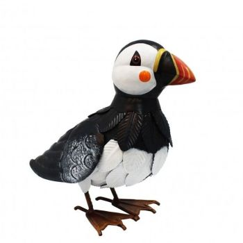 Primus Metal Puffin Garden Animal Bird Ornament