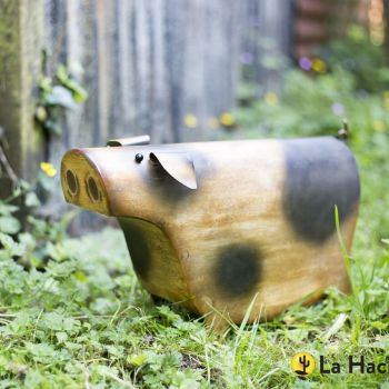 La Hacienda Patrick Pig Farmyard Steel Garden Animal Ornament