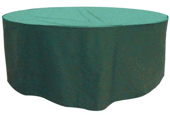 Garland 8 Seat Round Patio Table Set Cover Polyester - Green W3404
