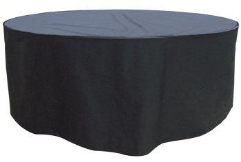 Garland 8 Seat Round Patio Table Set Cover Polyester - Black W1404