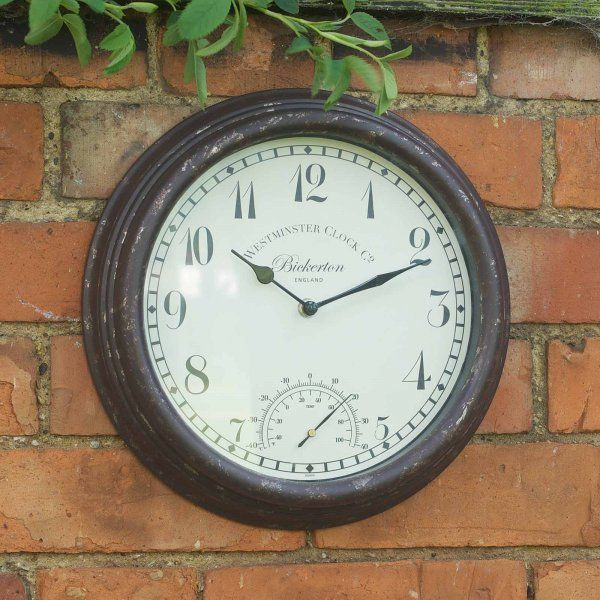 Smart Garden Bickerton Garden Wall Clock & Thermometer 12''
