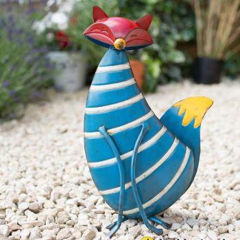 La Hacienda Stripy Fox Metal Garden Animal Ornament