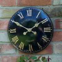 Smart Garden Westminster Garden Wall Clock - Black 12''