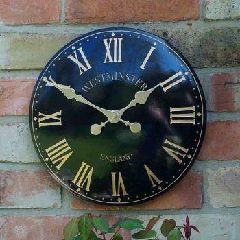 Smart Garden Westminster Garden Wall Clock - Black 12''