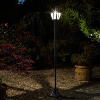 Smart Solar Whitehall Lamp Post Lantern Light