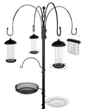 Gardman Complete Wild Bird Feeding Station - Black 2.26m A04391