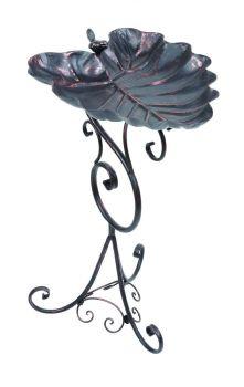 Gardman Decorative Leaf Bird Bath - Bronze A09701