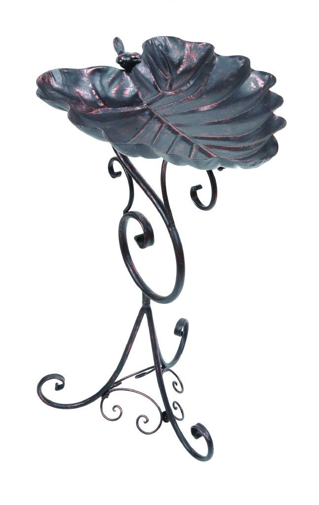 Gardman Decorative Leaf Bird Bath - Bronze A09701