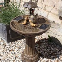 Smart Solar Duck Family Garden Fountain Water Feature